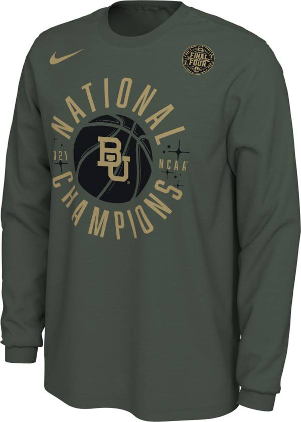 Nike Men's Baylor Bears 2021 Men's Basketball National Champions Celebration Long Sleeve T-Shirt product image