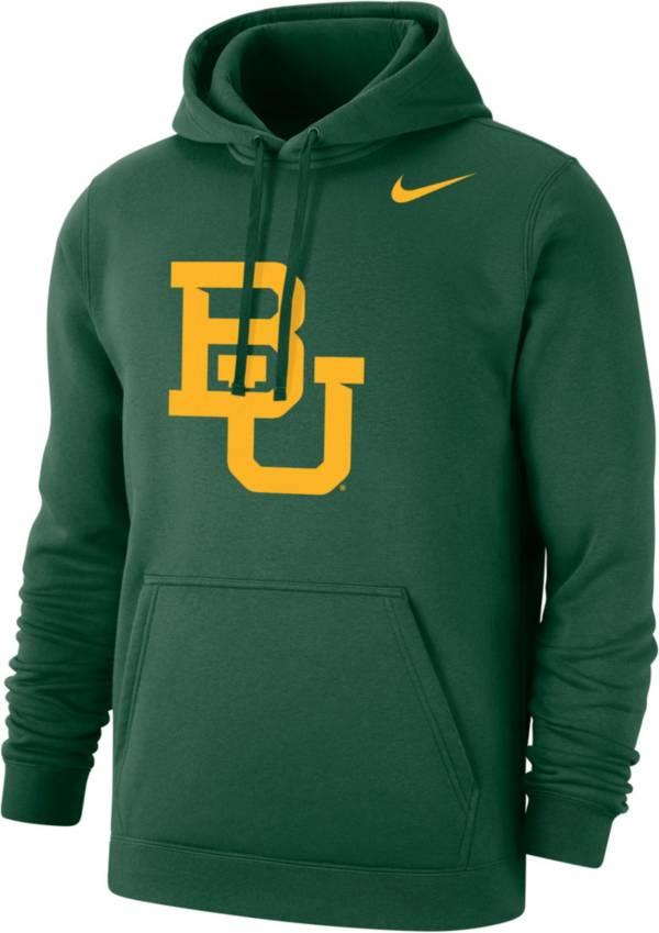 Nike Men's Baylor Bears Green Club Fleece Pullover Hoodie product image