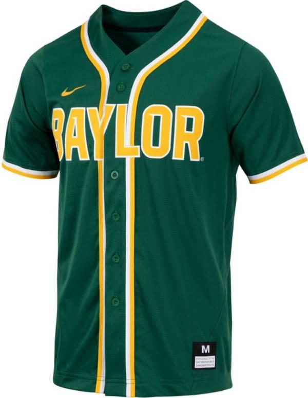 Nike Men's Baylor Bears Green Dri-FIT Replica Baseball Jersey product image
