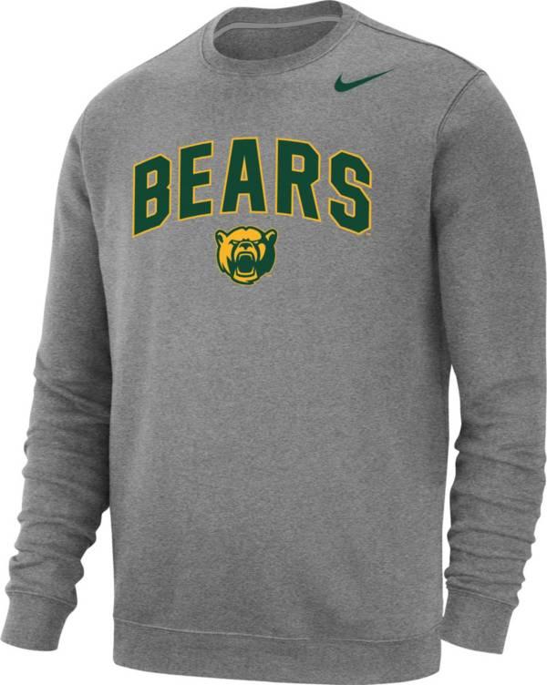 Nike Men's Baylor Bears Grey Club Fleece Crew Neck Sweatshirt product image