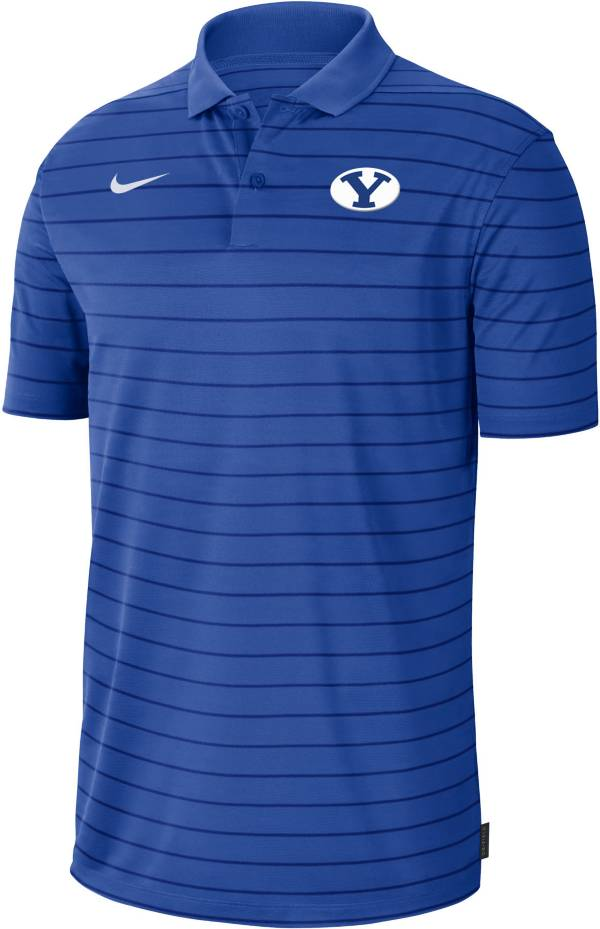 Nike Men's BYU Cougars Blue Football Sideline Victory Polo product image