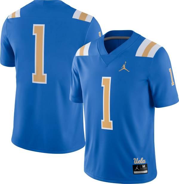 Jordan Men's UCLA Bruins #1 True Blue Dri-FIT Game Football Jersey product image