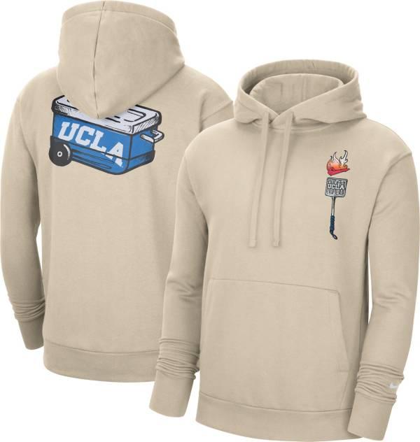 Nike Men's UCLA Bruins Brown Football Tailgate Club Fleece Hoodie product image