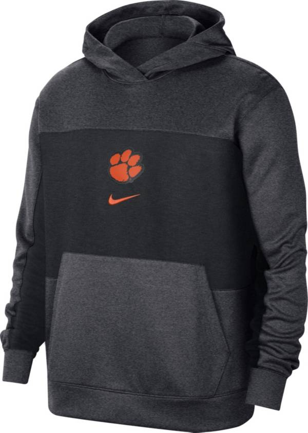 Nike Men's Clemson Tigers Grey Dri-FIT Spotlight Pullover Hoodie product image