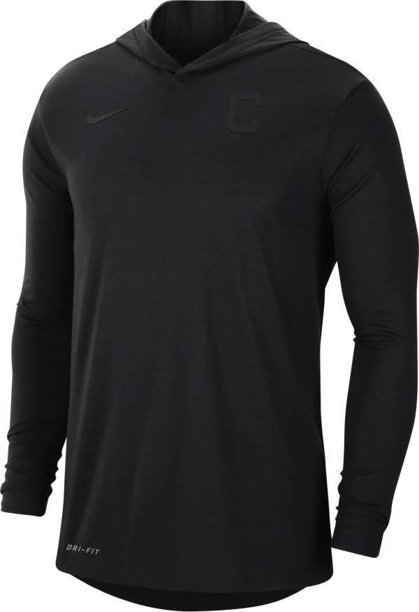 Nike Men's Clemson Tigers Black Dri-FIT Vapor Pinnacle Long Sleeve Hoodie T-Shirt product image