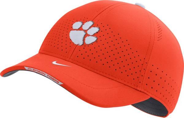 Nike Men's Clemson Tigers Orange AeroBill Swoosh Flex Classic99 Football Sideline Hat product image
