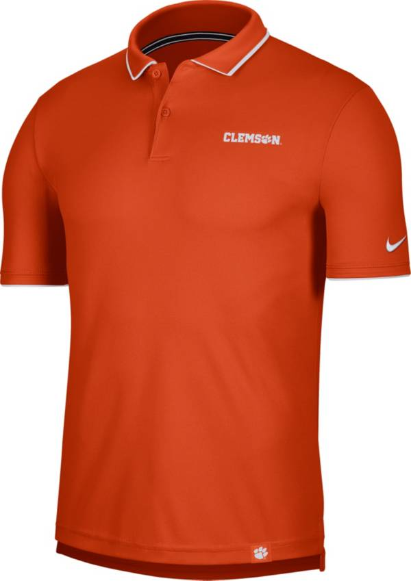 Nike Men's Clemson Tigers Orange Dri-FIT UV Polo product image