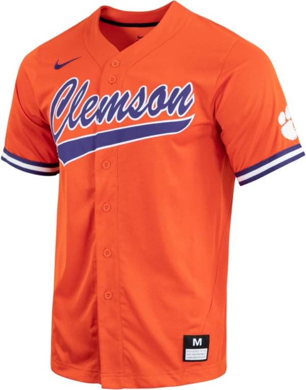 Nike Men's Clemson Tigers Orange Dri-FIT Replica Baseball Jersey product image