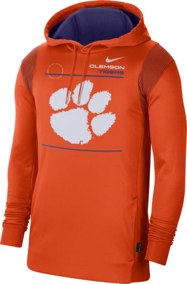 Nike Men's Clemson Tigers Orange Therma Performance Pullover Hoodie product image
