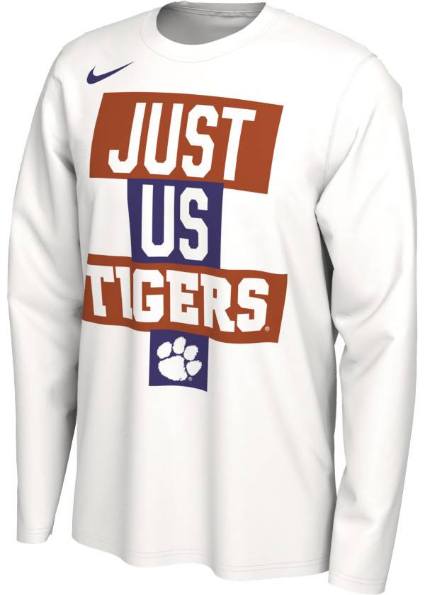 Nike Men's Clemson Tigers 'Just Us' Bench Long Sleeve T-Shirt product image