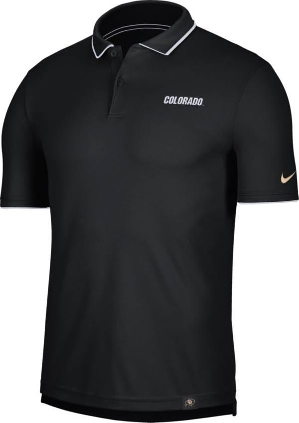 Nike Men's Colorado Buffaloes Dri-FIT UV Black Polo product image