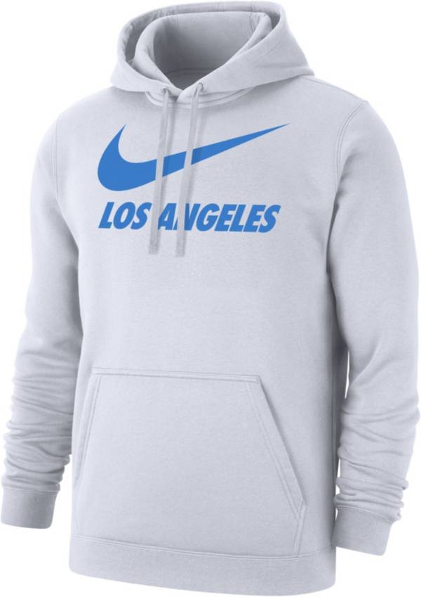 Nike Men's Los Angeles City Pullover White Hoodie product image