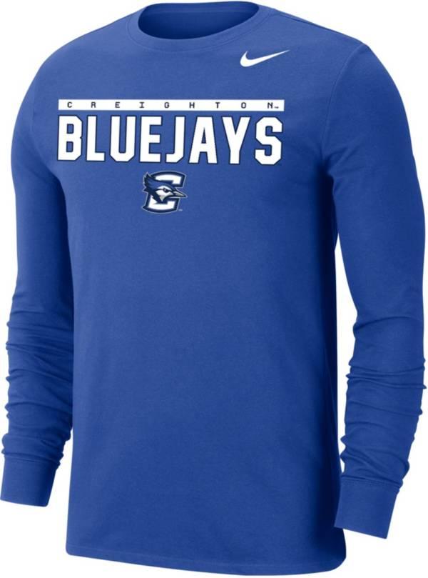 Nike Men's Creighton Bluejays Blue Dri-FIT Cotton Long Sleeve T-Shirt product image