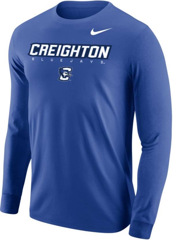 Nike Men's Creighton Bluejays Blue Core Cotton Graphic Long Sleeve T-Shirt product image