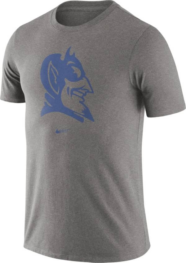 Nike Men's Duke Blue Devils Grey Retro Logo T-Shirt product image