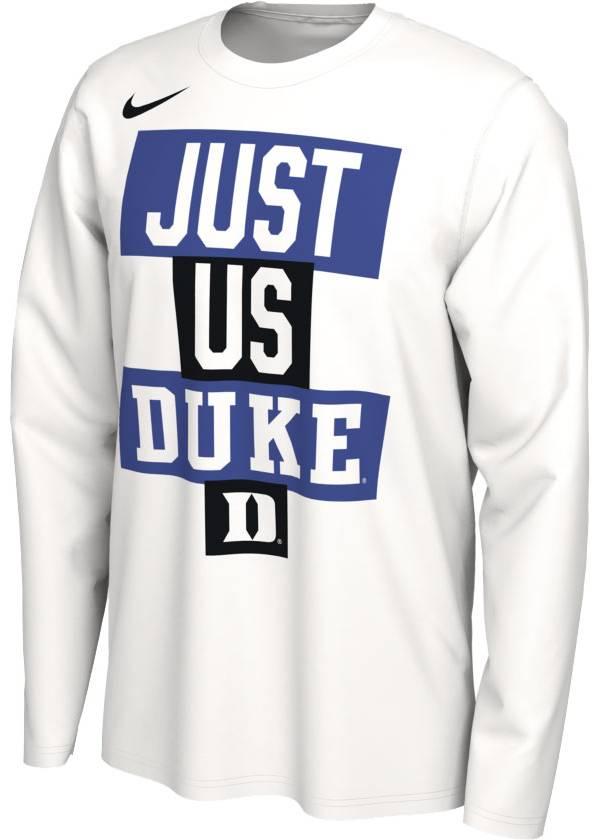 Nike Men's Duke Blue Devils 'Just Us' Bench Long Sleeve T-Shirt product image