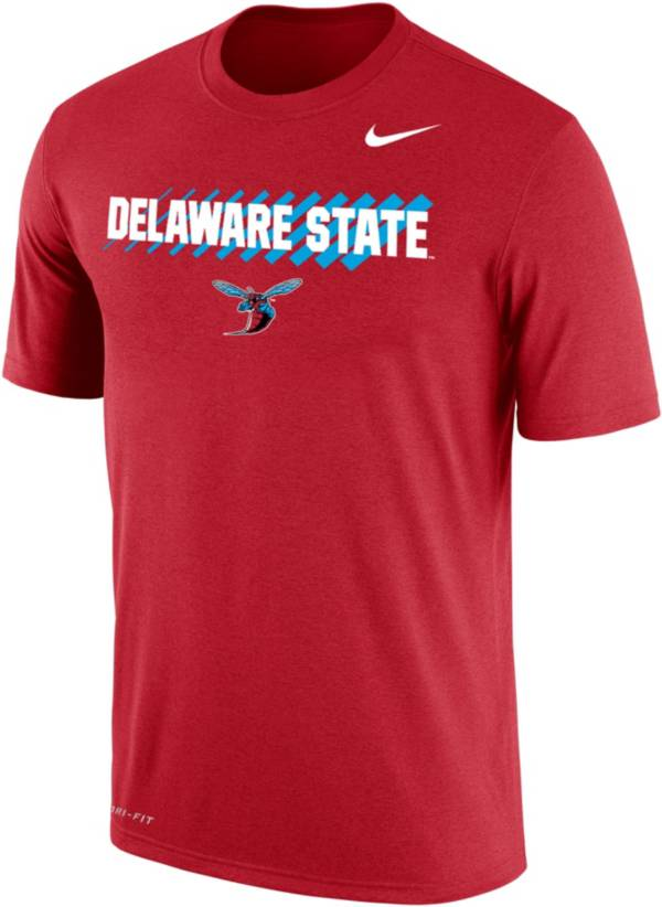Nike Men's Delaware State Hornets Red Dri-FIT Cotton T-Shirt product image