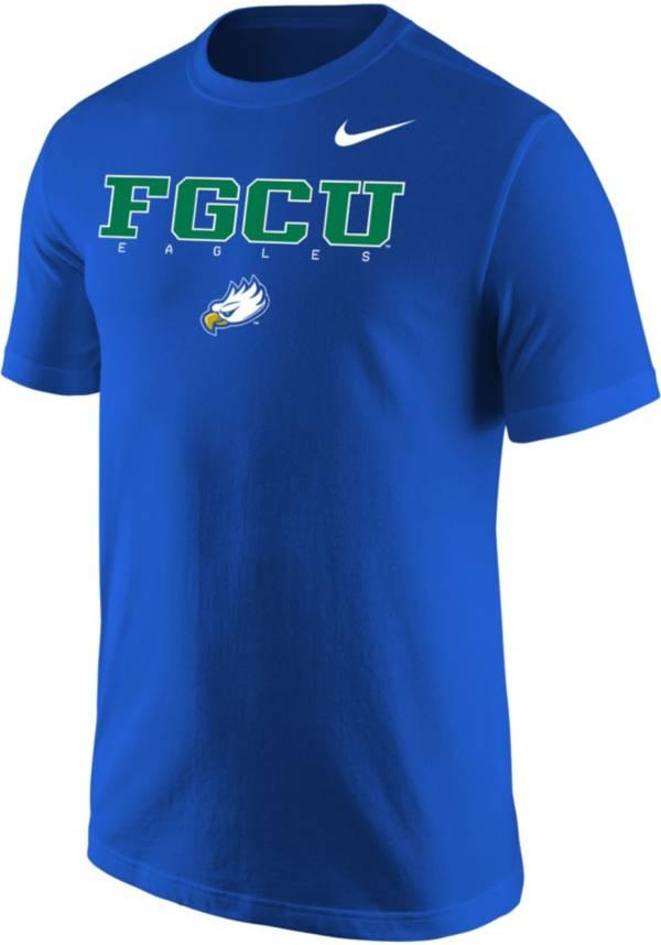 Nike Men's Florida Gulf Coast Eagles Cobalt Blue Core Cotton Graphic T-Shirt product image