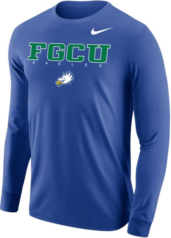 Nike Men's Florida Gulf Coast Eagles Cobalt Blue Core Cotton Graphic Long Sleeve T-Shirt product image