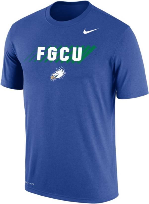 Nike Men's Florida Gulf Coast Eagles Cobalt Blue Dri-FIT Cotton T-Shirt product image