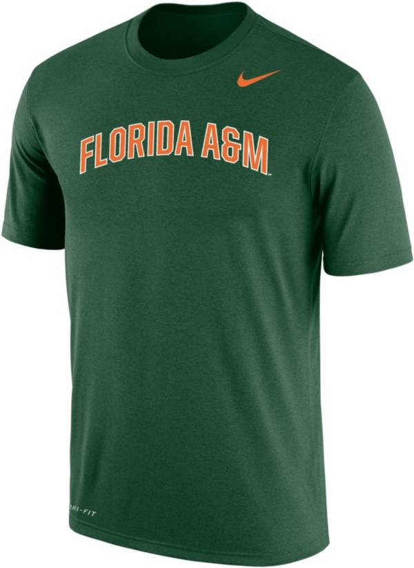 Nike Men's Florida A&M Rattlers Green Dri-FIT Cotton T-Shirt product image