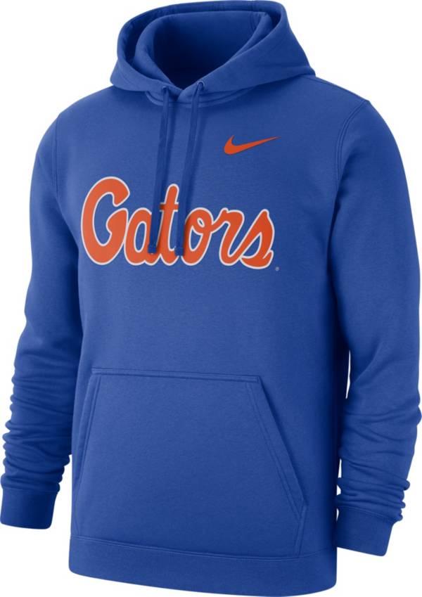 Nike Men's Florida Gators Blue Club Fleece Pullover Hoodie product image