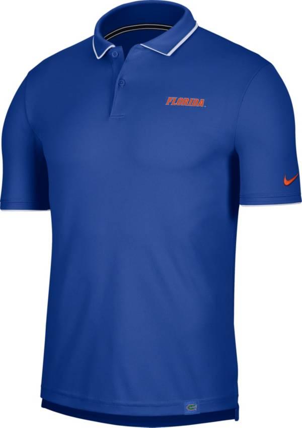 Nike Men's Florida Gators Blue Dri-FIT UV Polo product image