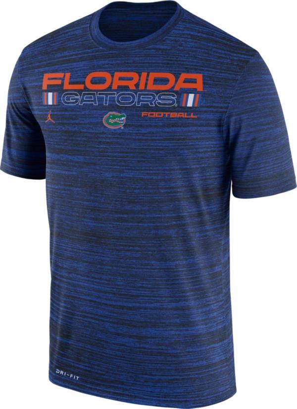 Jordan Men's Florida Gators Blue Velocity Legend Football T-Shirt product image