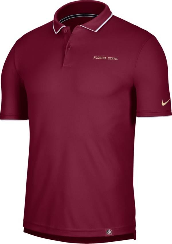 Nike Men's Florida State Seminoles Garnet Dri-FIT UV Polo product image