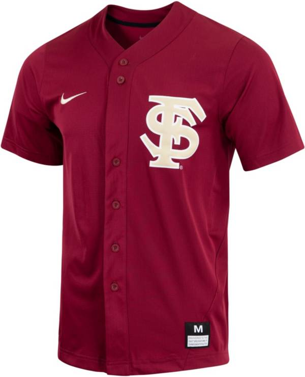 Nike Men's Florida State Seminoles Garnet Dri-FIT Replica Baseball Jersey product image