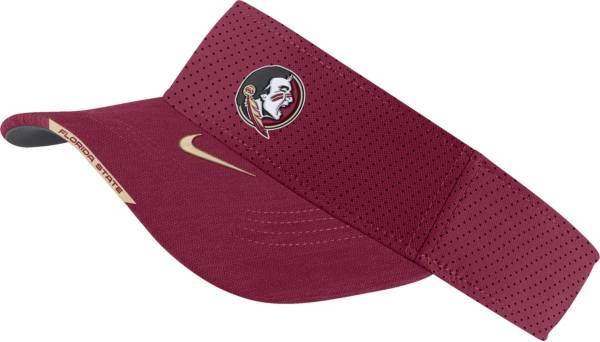 Nike Men's Florida State Seminoles Garnet Aero Football Sideline Visor product image