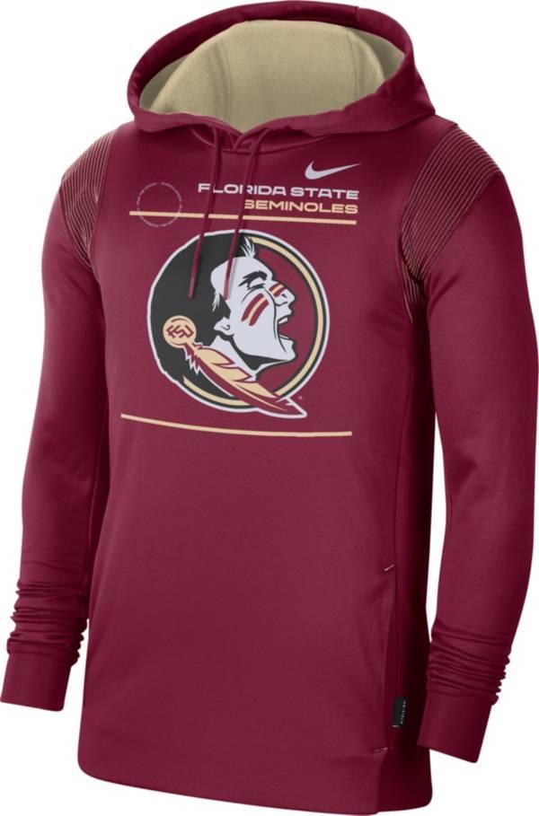 Nike Men's Florida State Seminoles Garnet Therma Performance Pullover Hoodie product image