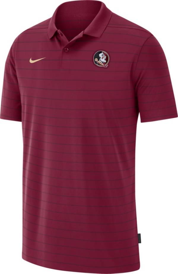 Nike Men's Florida State Seminoles Garnet Football Sideline Victory Polo product image