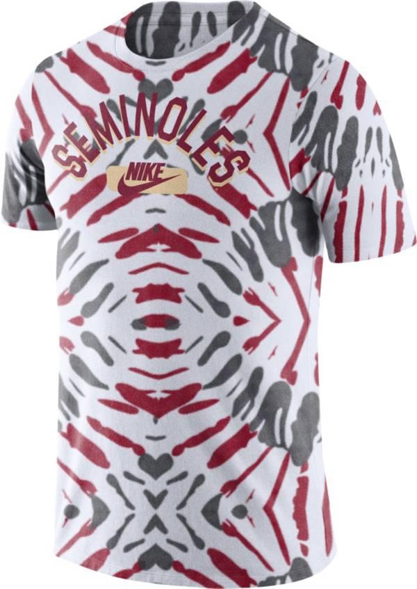 Nike Men's Florida State Seminoles White Tie-Dye Festival T-Shirt product image