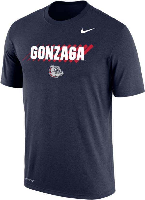 Nike Men's Gonzaga Bulldogs Blue Dri-FIT Cotton T-Shirt product image