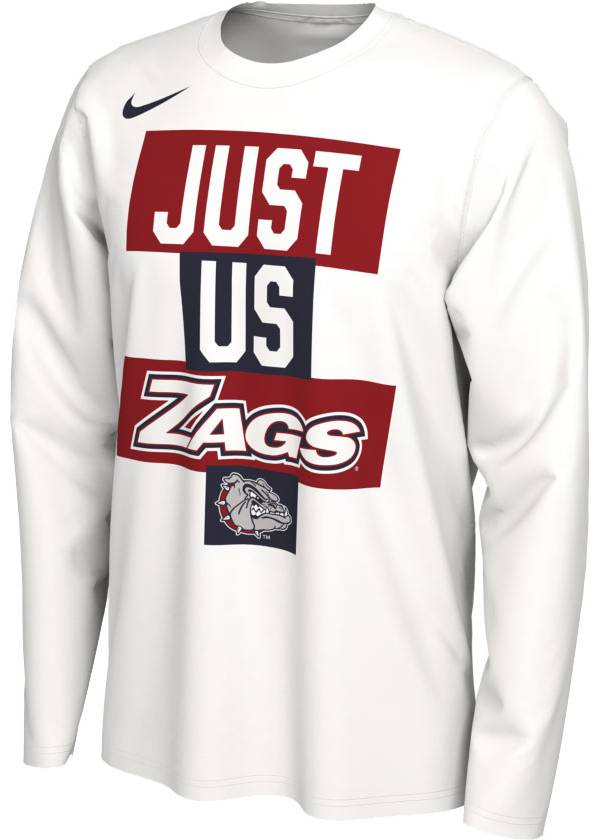 Nike Men's Gonzaga Bulldogs 'Just Us' Bench Long Sleeve T-Shirt product image
