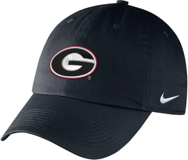 Nike Men's Georgia Bulldogs Campus Adjustable Black Hat product image