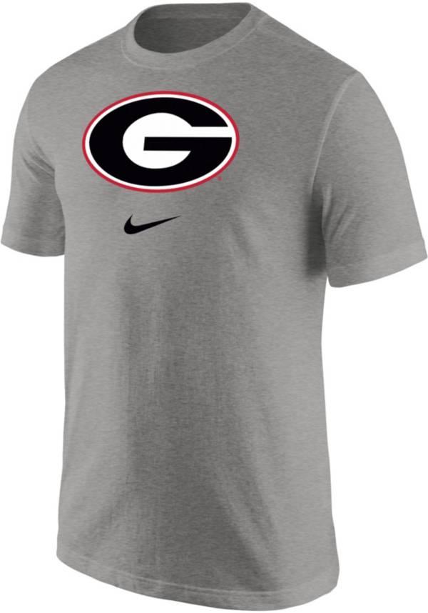 Nike Men's Georgia Bulldogs Grey Core Cotton Logo T-Shirt product image