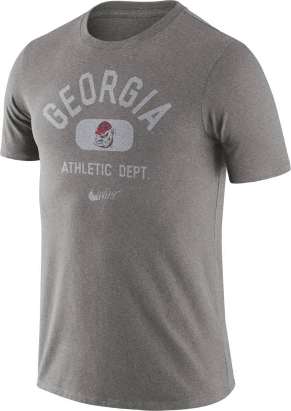 Nike Men's Georgia Bulldogs Grey Tri-Blend Old School Arch T-Shirt product image