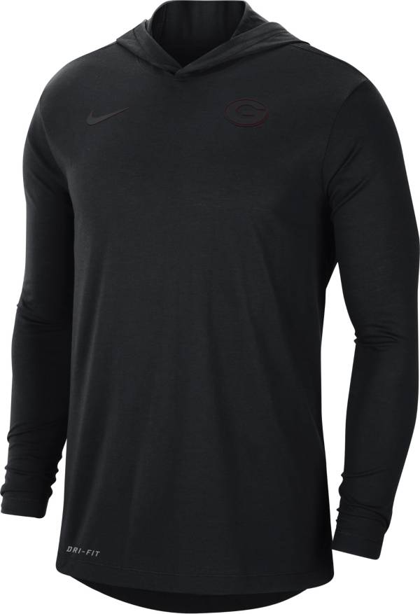 Nike Men's Georgia Bulldogs Black Dri-FIT Vapor Pinnacle Long Sleeve Hoodie T-Shirt product image
