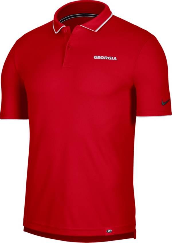 Nike Men's Georgia Bulldogs Red Dri-FIT UV Polo product image