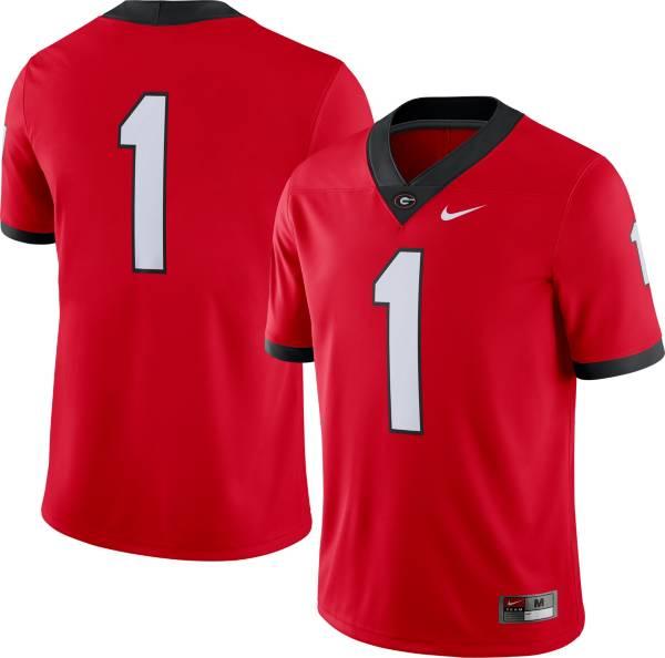 Nike Men's Georgia Bulldogs #1 Red Dri-FIT Game Football Jersey product image