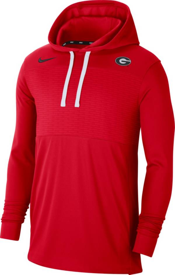 Nike Men's Georgia Bulldogs Red Lightweight Pullover Hoodie product image