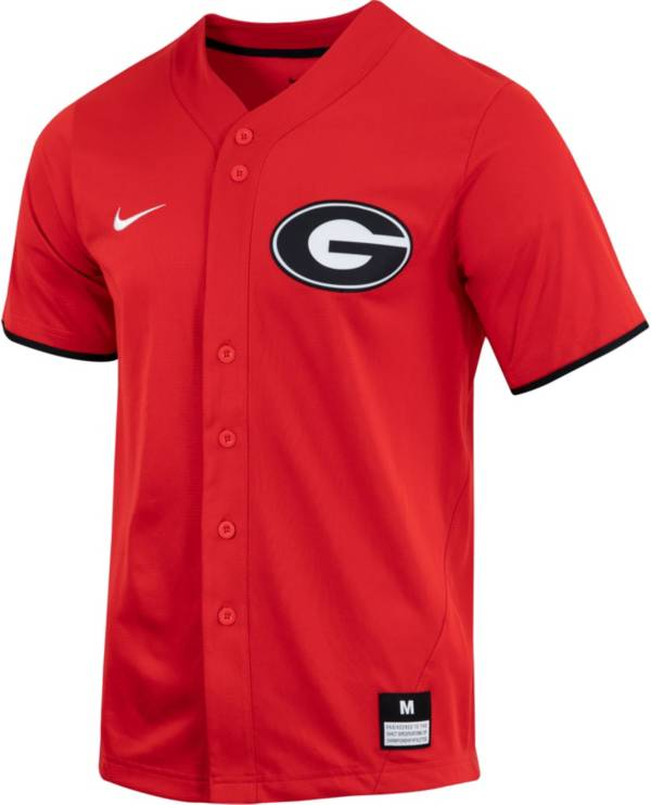 Nike Men's Georgia Bulldogs Red Dri-FIT Replica Baseball Jersey product image