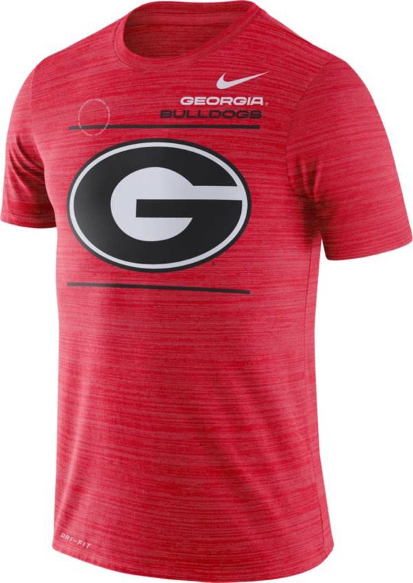 Nike Men's Georgia Bulldogs Red Dri-FIT Velocity Football Sideline T-Shirt product image