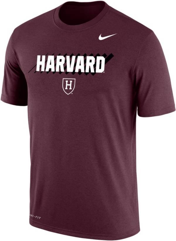 Nike Men's Harvard Crimson Crimson Dri-FIT Cotton T-Shirt product image