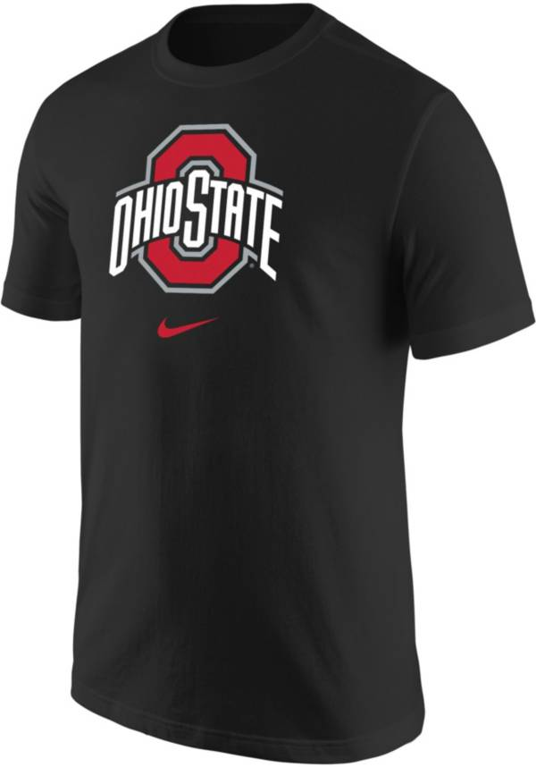 Nike Men's Ohio State Buckeyes Core Cotton Logo Black T-Shirt product image