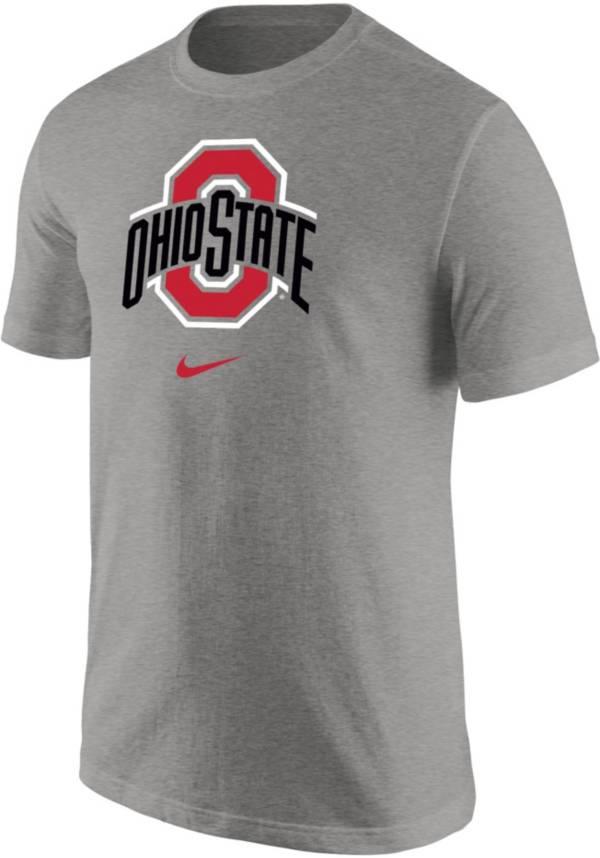 Nike Men's Ohio State Buckeyes Gray Core Cotton Logo T-Shirt product image