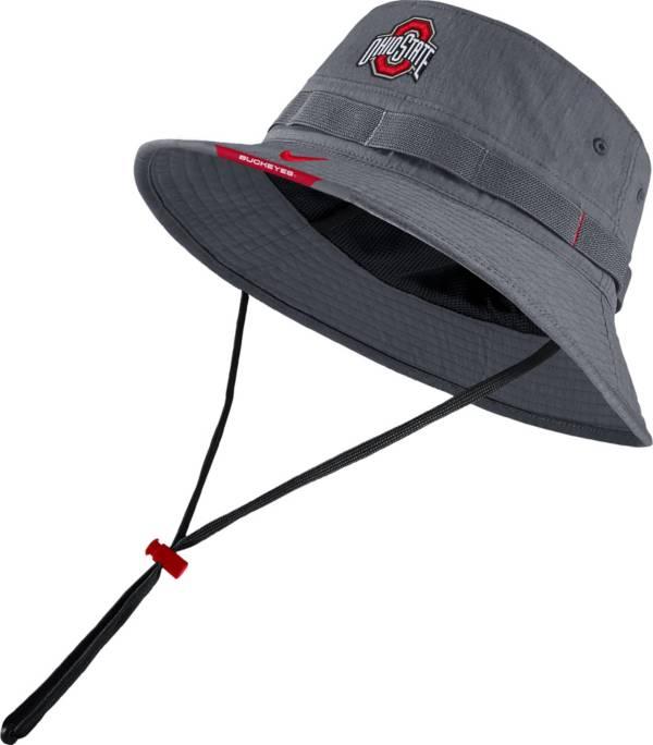 Nike Men's Ohio State Buckeyes Grey Dri-FIT Football Sideline Bucket Hat product image