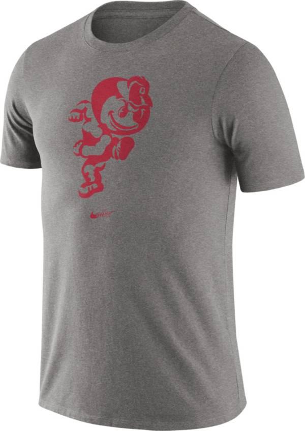 Nike Men's Ohio State Buckeyes Grey Retro Logo T-Shirt product image